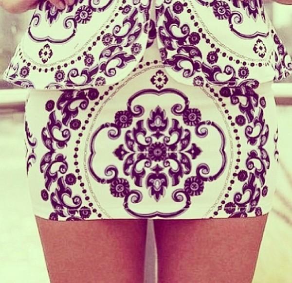 skirt little black and white skirt.
