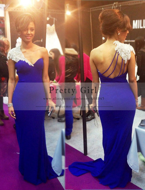 aliexpress   buy unique sexy one shoulder royal blue