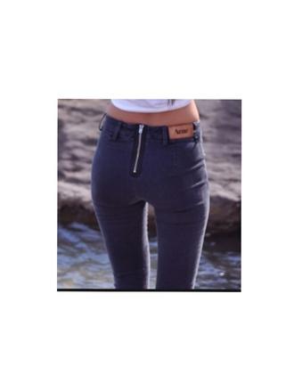 jeans denim zip nice skinny pants acne studios laces zipped pants