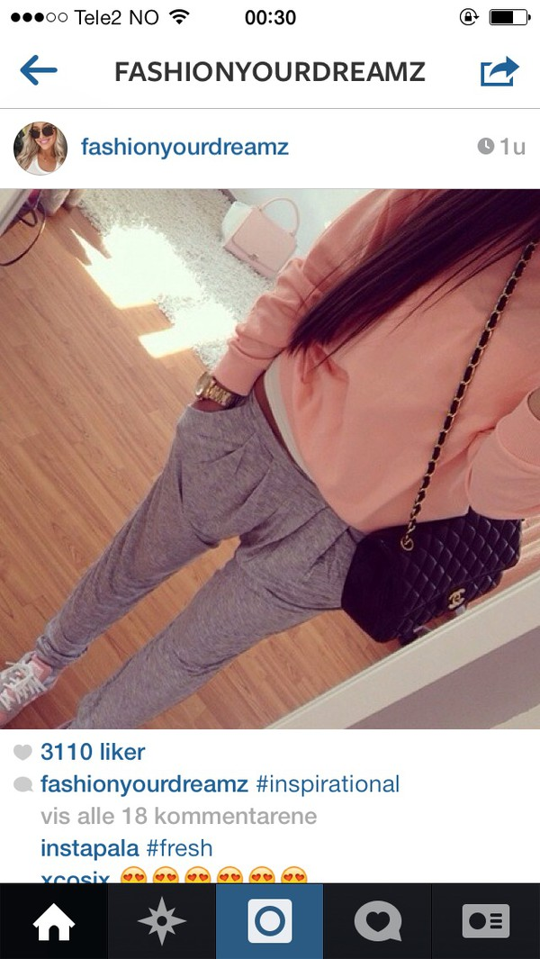 jeans grey sweatpants peach sweater peach sweater pants