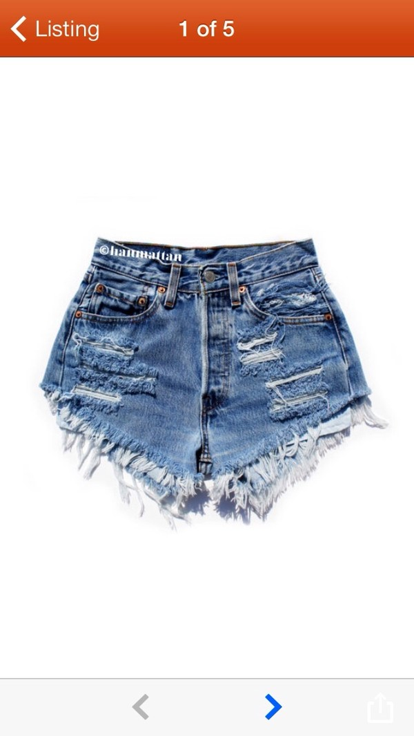 jeans shorts vintage ripped shorts fringes