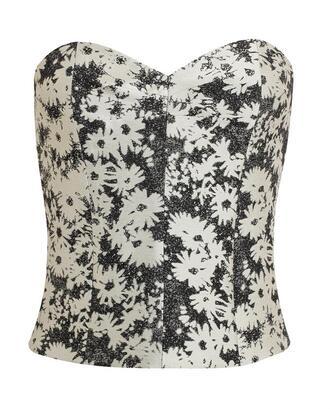 tank top floral jacquard cotton bustier bustier stella mccartney floral