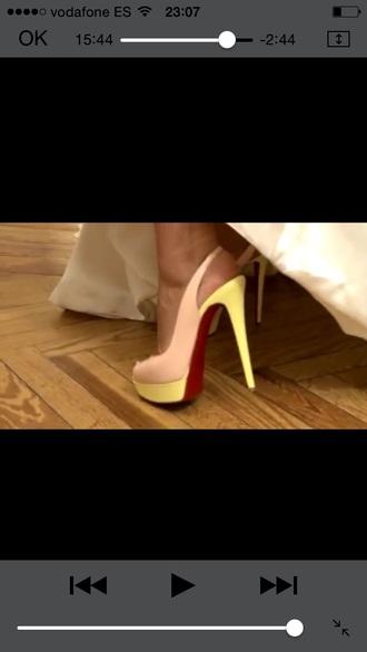 shoes christian louboutin shoes nude shoes nude nude & pink sandals yellow christian louboutins