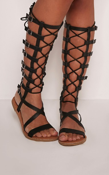 dfe163a6f21 shoes buckles black gladiators gladiators knee high gladiator sandals black flat  gladiator sandals gladiator shoes black