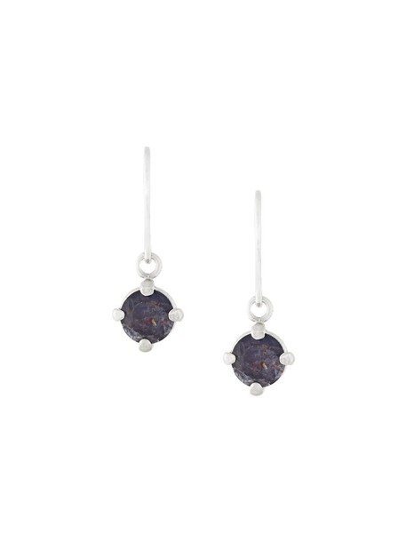 Wouters & Hendrix women earrings silver grey metallic jewels