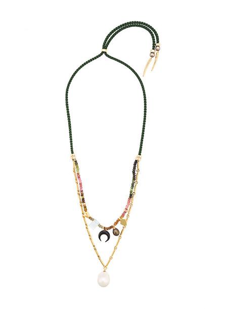 LIZZIE FORTUNATO JEWELS women necklace gold silk jewels