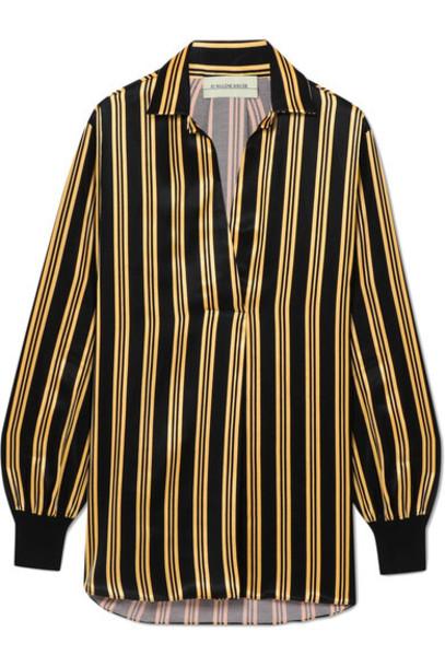 By Malene Birger shirt black satin top