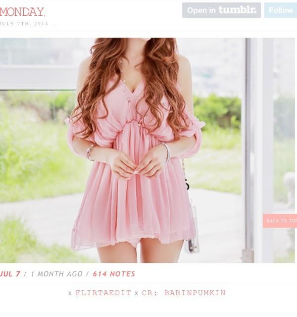 pink dress dress cute dress