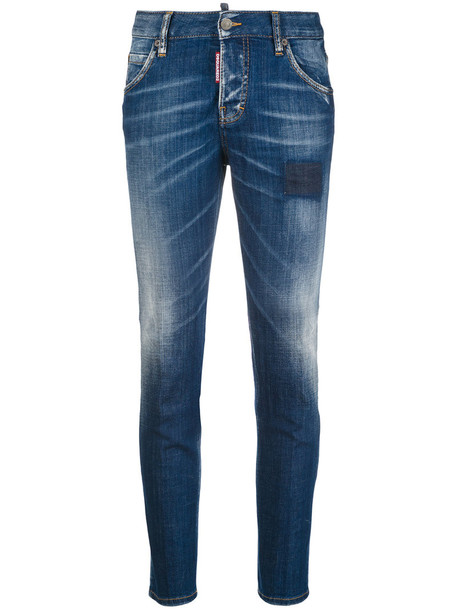 jeans girl cool women spandex leather cotton blue