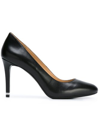 women classic pumps leather black shoes