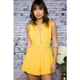 Sol shining yellow romper