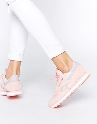 shoes reebok baby pink