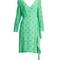 V-neck polka-dot silk-crepe dress