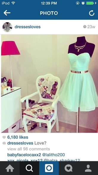 dress gold mint thy cut mint dress