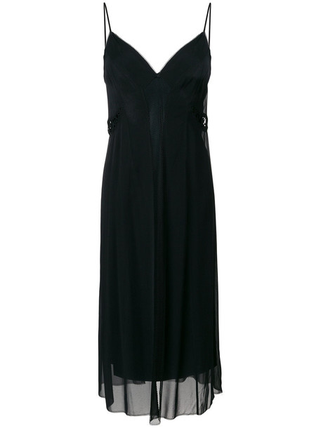 dress slip dress women black silk