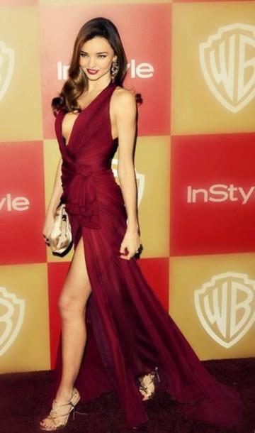 0a1930a9662d dress burgundy miranda kerr long red dress gold raspberry color hat