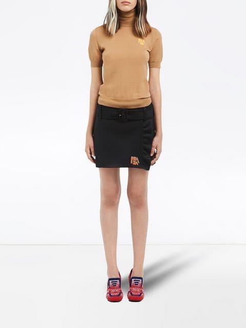 Prada Turtleneck Shortsleeved Knitted Blouse - Farfetch