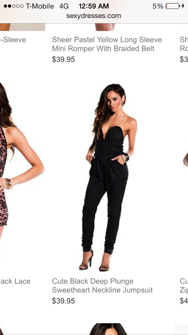 jumpsuit Sweetheart neck