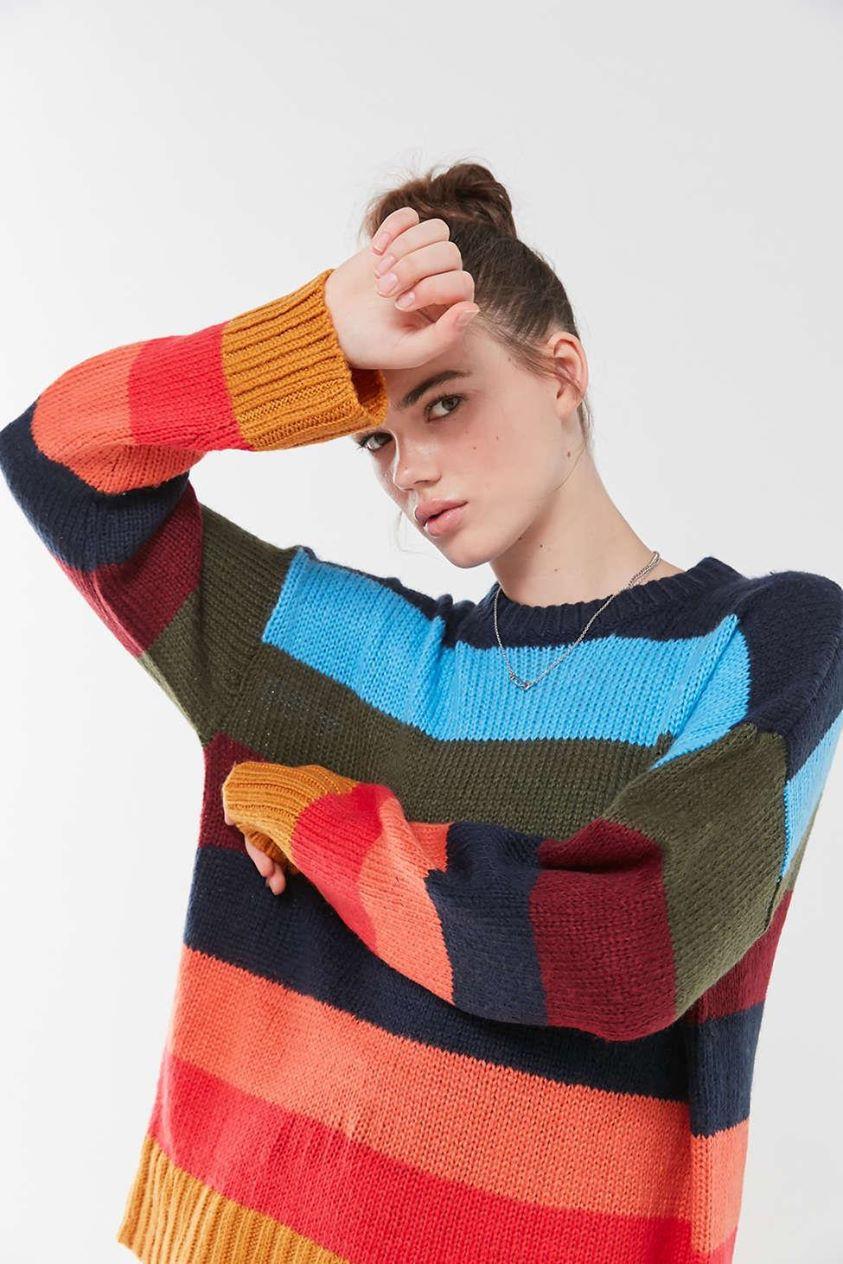 UO Bobby Boyfriend Striped Crew-Neck Sweater