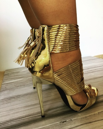 shoes gold prom strappy heels open toes gold heels sexy shoes prom shoes metallic metallic shoes