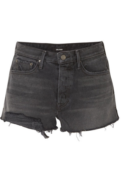 GRLFRND shorts denim shorts denim black