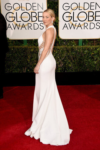 dress golden globes 2015 kate hudson red carpet dress white dress