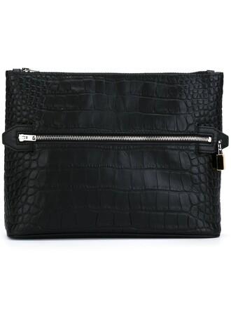 clutch crocodile black bag