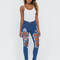 Shred-y to rock distressed skinny jeans blue - gojane.com
