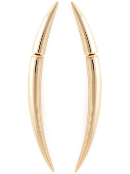 SHAUN LEANE women earrings gold silver grey metallic jewels