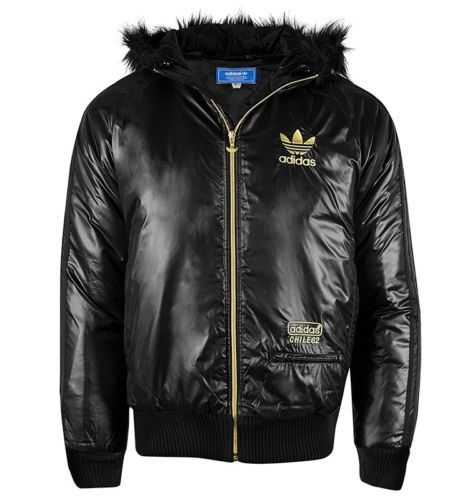 62cb14811f51 New Mens Adidas Originals chile 62 JACKET FAUX LEATHER WET ...