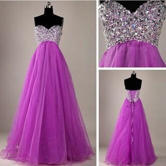 dress sparkly dress purple dress