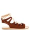 Antigone suede lace-up sandals