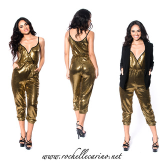 romper rochelle carino gold gold sequins jumpsuit new year's eve new year dresses sparkly sparkle sequins sequin dress holiday season