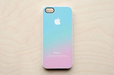 hot sale online 93b81 b0450 Pastel iPhone Case 6 5S 5C 5 4 4S Apple Logo Ombre Pink Aqua Blue Hipster  Galaxy