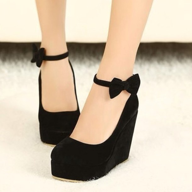shoes wedges high heels black wedges coat wheretoget
