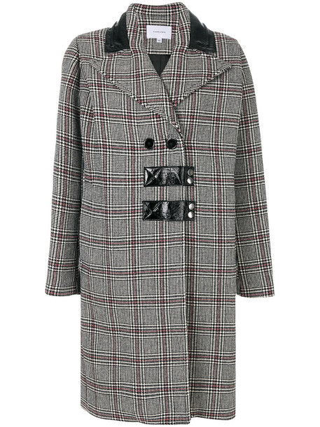 coat women black wool pattern houndstooth