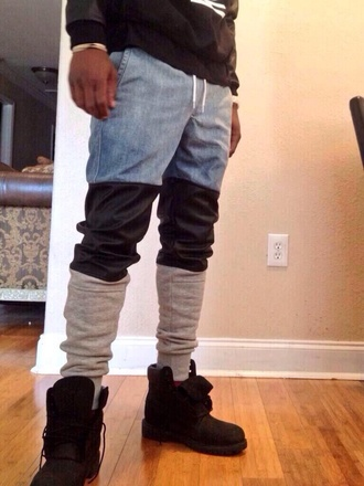 pants mens pants jeans dope swag a.p.c kanye west sweatpants leather boyfriend jeans cool style fashion dope shit