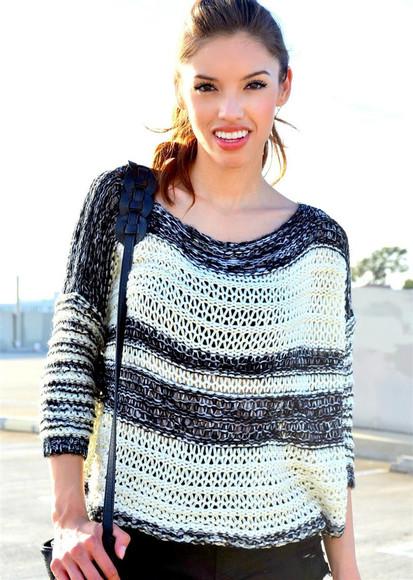 black and white swimwear sweater black and white sweater