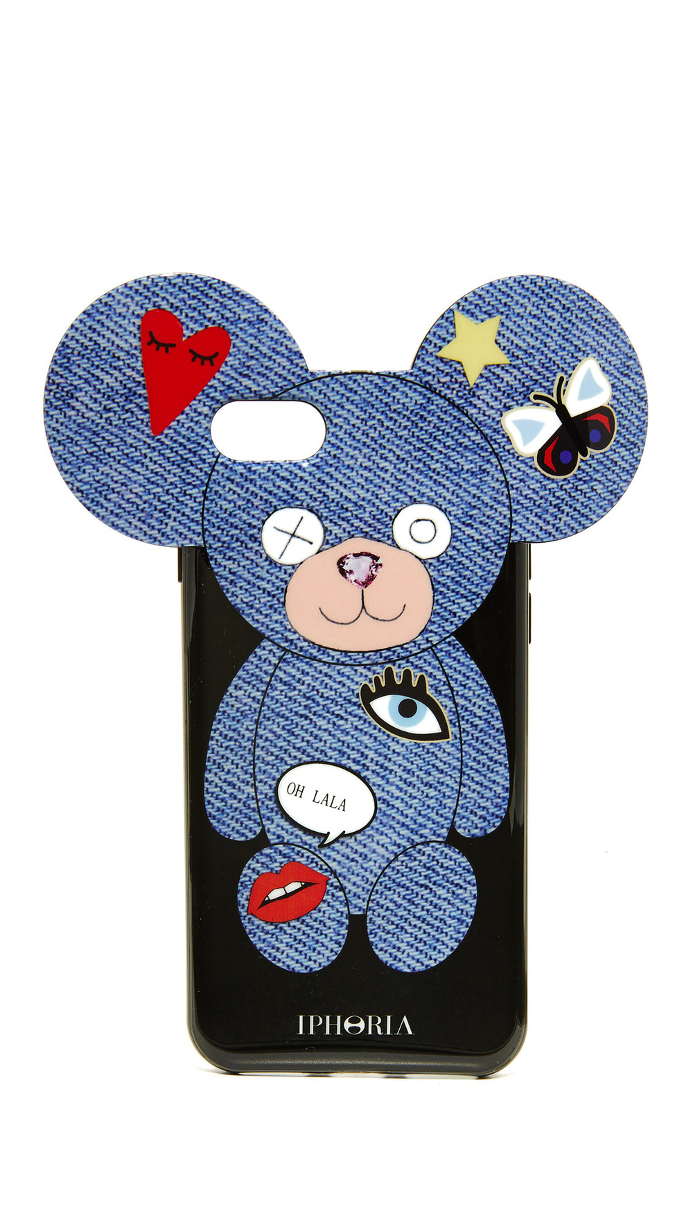 iphoria teddy jeans patches iphone 7 case blue multi wheretoget. Black Bedroom Furniture Sets. Home Design Ideas