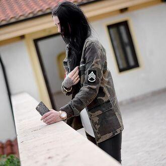 jacket maniere de voir mdv camouflage shirt embroidered
