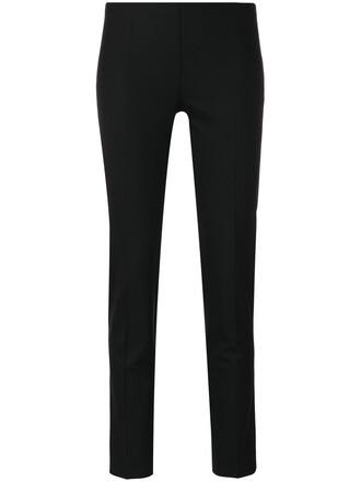 cropped women spandex fit black wool pants