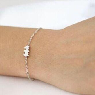 jewels cherry diva batman superheroes bracelets charm bracelet bracelet chains bracelet silver heart