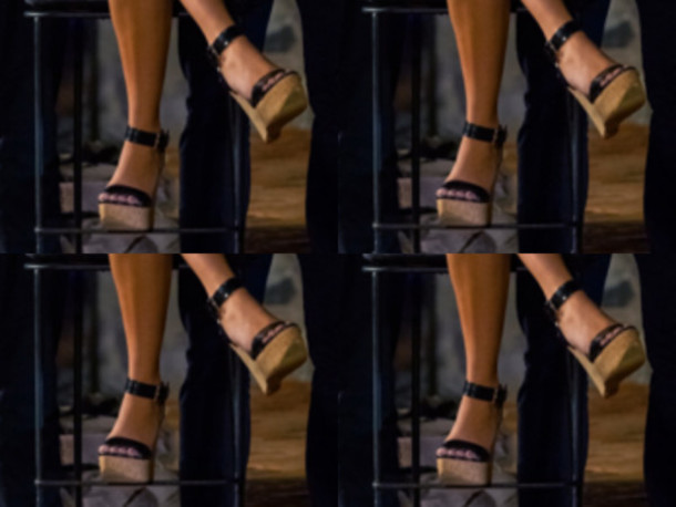 shoes brown wedges black