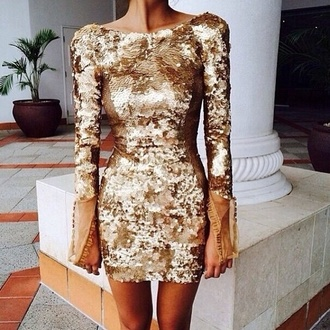 sequins dress tumblr clothes cute gold fashion sparkles sequined dress junior prom shiny gold sequins