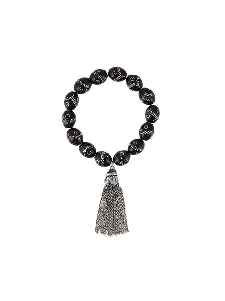 tassel women silver black coral grey jewels