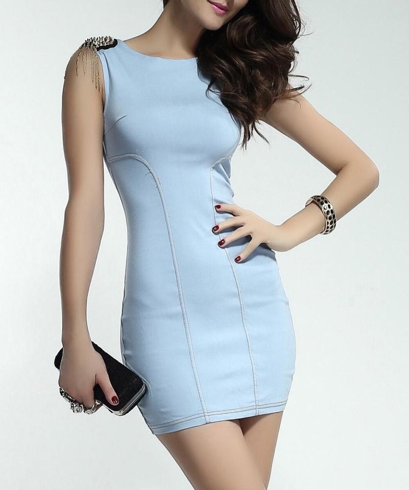 5c48d02120 Women s Casual Stylish Skin Tight Denim Dress