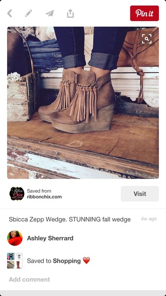 shoes boots tassel brown trendy wedges