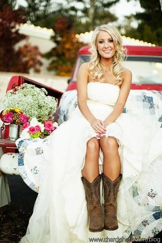 dress wedding country western wedding dress wedding clothes strapless wedding dresses shoes