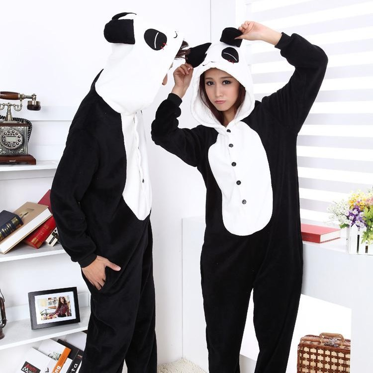 Free Shipping Furry Panda Animal Cosplay Pajamas Onesies Costume One Piece Adult Pyjamas Sleepwear for Women Men-in Costumes from Apparel & Accessories on Aliexpress.com | Alibaba Group