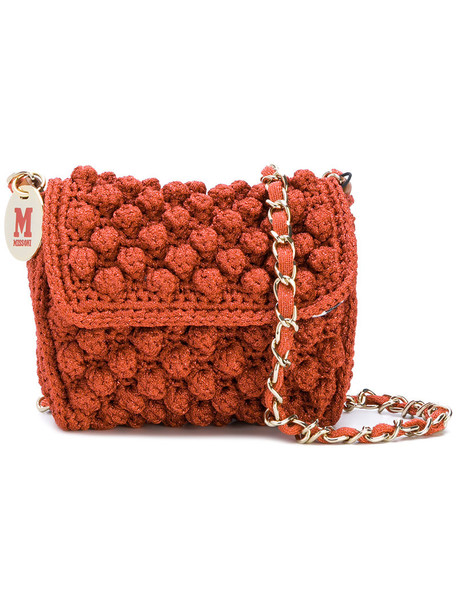 M Missoni mini shoulder bag mini women bag shoulder bag crochet red